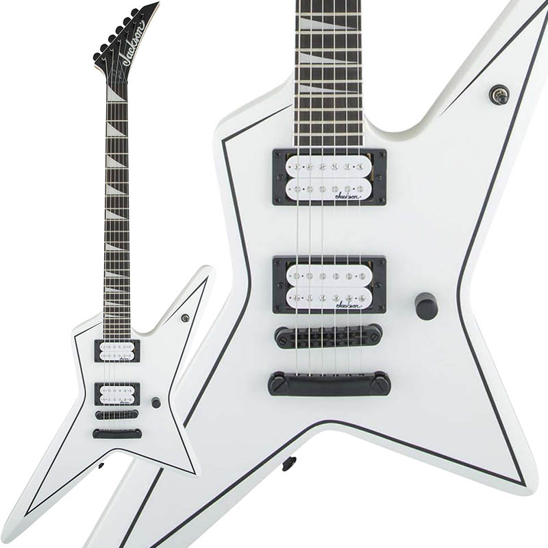 Jackson JS Series Signature JS32 Gus G. STAR (Snow White with Black Pinstripes)