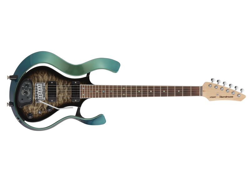 VOX Starstream Type 1 with DiMarzio VSS-1-24MGBB-Q (Metallic Green Frame with Black Burst Quilted Maple Top) 【生産完了特価】