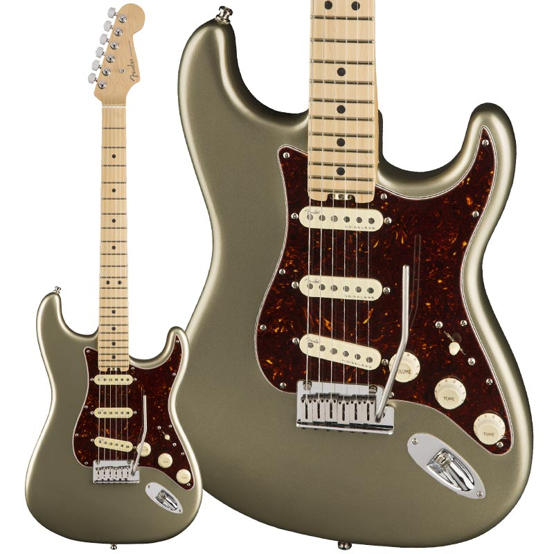 Fender USA American Elite Stratocaster (Champagne/Maple) [Made In USA] 【rpt5】