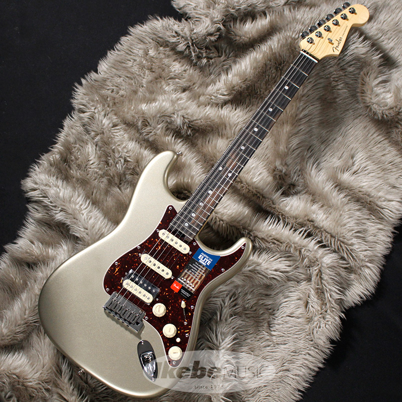Fender USA American Elite Stratocaster HSS Shawbucker (Champagne/Ebony) 【rpt5】