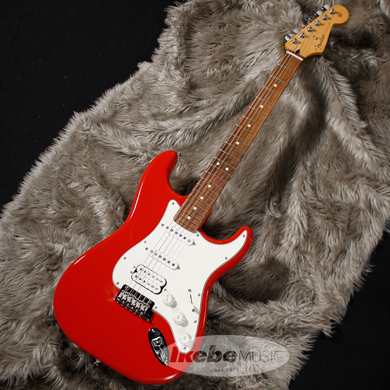 Fender MEX Player Stratocaster HSS (Sonic Red/Pau Ferro) 【rpt5】 【FENDER THE AUTUMN-WINTER 2018 CAMPAIGN】 【オリジナルレザーピックケースプレゼント】
