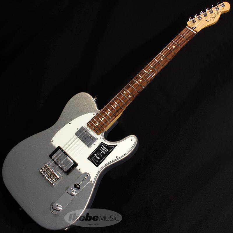 Fender MEX Player Telecaster HH (Silver/Pau Ferro) [Made In Mexico] 【rpt5】