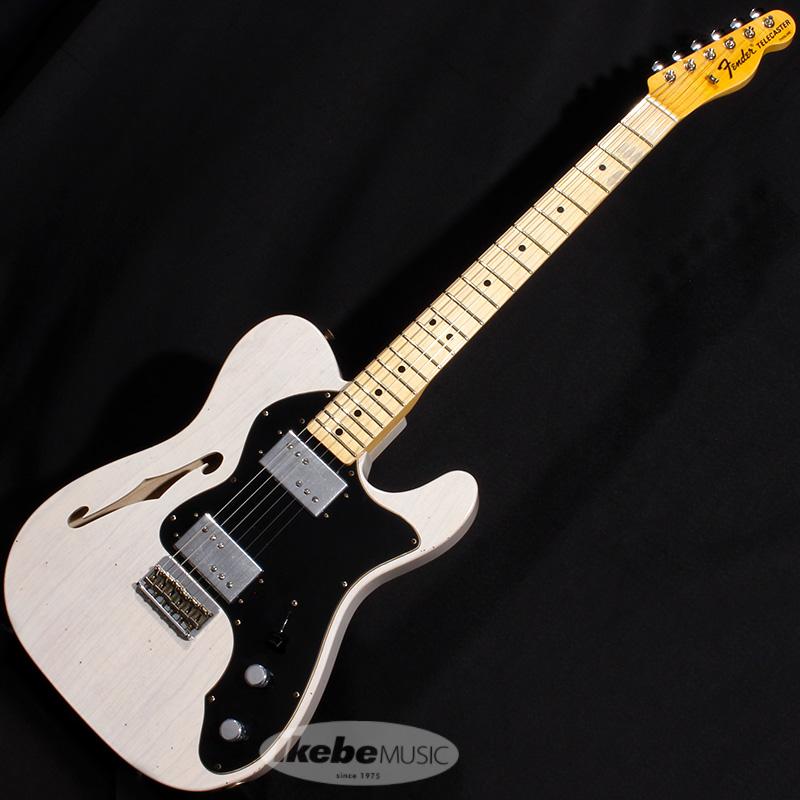 Fender Custom Shop 2020 Limited Edition 1972 Telecaster Thinline Journeyman Relic (Aged White Blonde) 【rpt5】