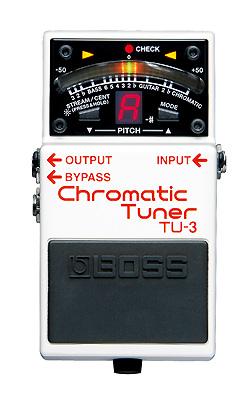 圧倒的な信頼感を持つペダルタイプのクロマチック・チューナー! BOSS TU-3 (Chromatic Tuner)【期間限定★送料無料】 【rpt5】