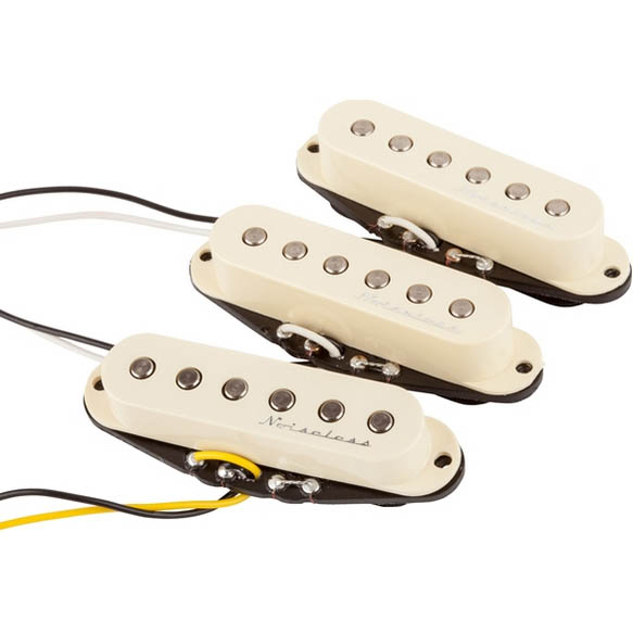 Fender Hot Noiseless Strat Pickups (Aged White)