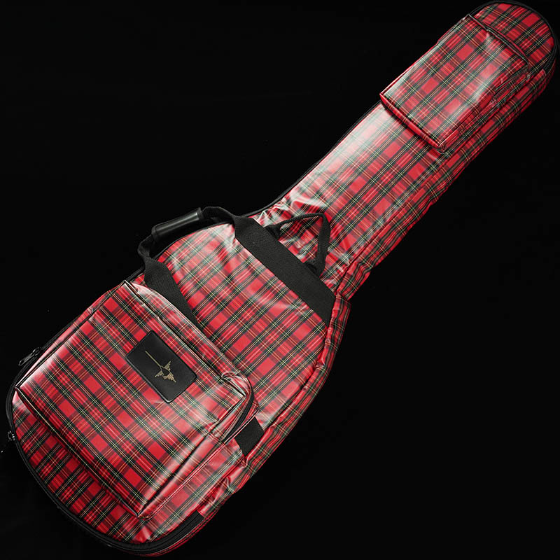 """NAZCA IKEBE ORIGINAL Protect Case for Bass LIMITED MODEL """"Tartan Check"""" (Red) 【即納可能】"""