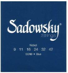 エレキギター弦 日本メーカー新品 Sadowsky ELECTRIC GUITAR STRINGS 信用 Blue Label Plated Nickel