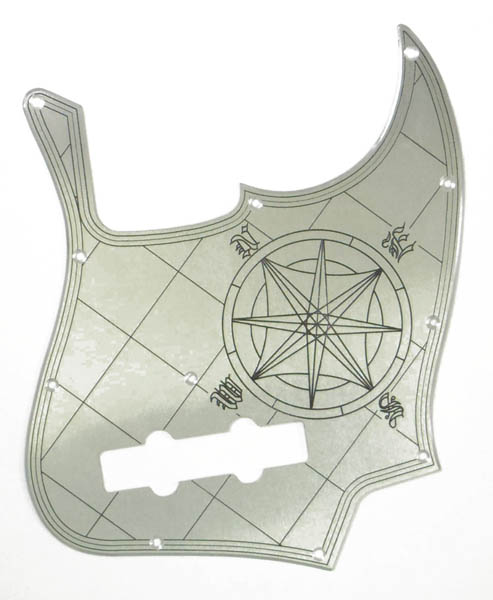 B,W&R Custom Engraved Aluminium Pickguard JB用 Compass Plain 【特注品】