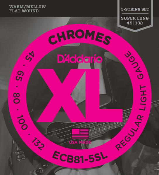 D'Addario Chromes Flat Wound ECB81-5SL