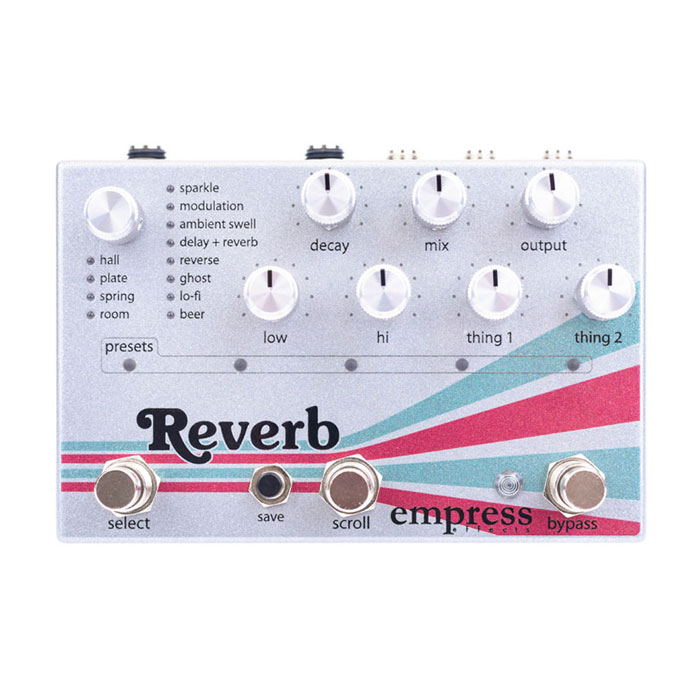 Empress Effects Reverb -High-Quality Stereo Reverb-