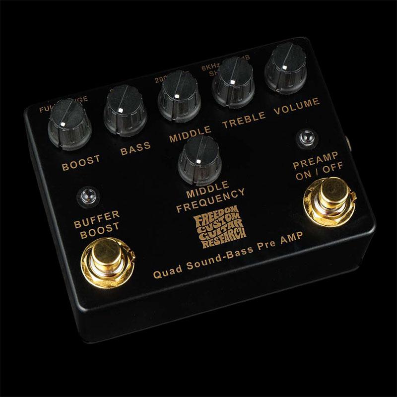 Freedom Custom Guitar Research Limited Edition Quad Sound Bass Pre AMP / Black 【限定30台生産】 【即納可能】