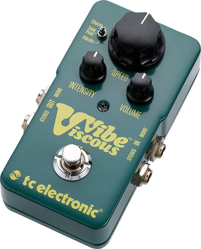 tc electronic TonePrint Viscous Vibe [TonePrint対応ヴィブラート/モジュレーション・ペダル] ※国内正規品