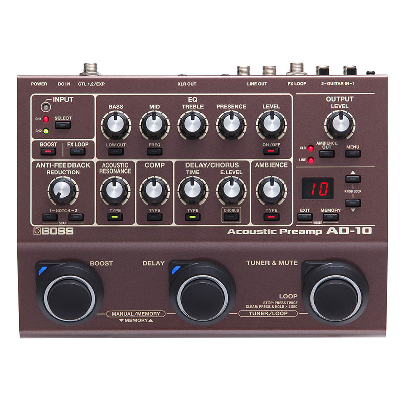 BOSS AD-10 [Acoustic Preamp] 【ikbp5】