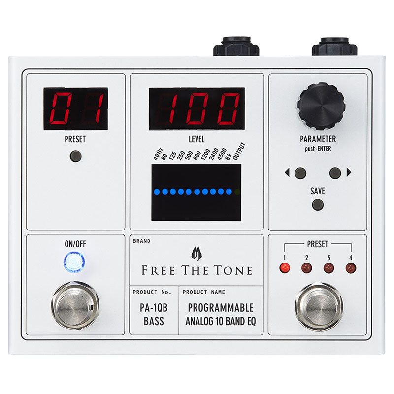 Free The Tone PA-1QB [PROGRAMMABLE ANALOG 10 BAND EQ] 【即納可能】