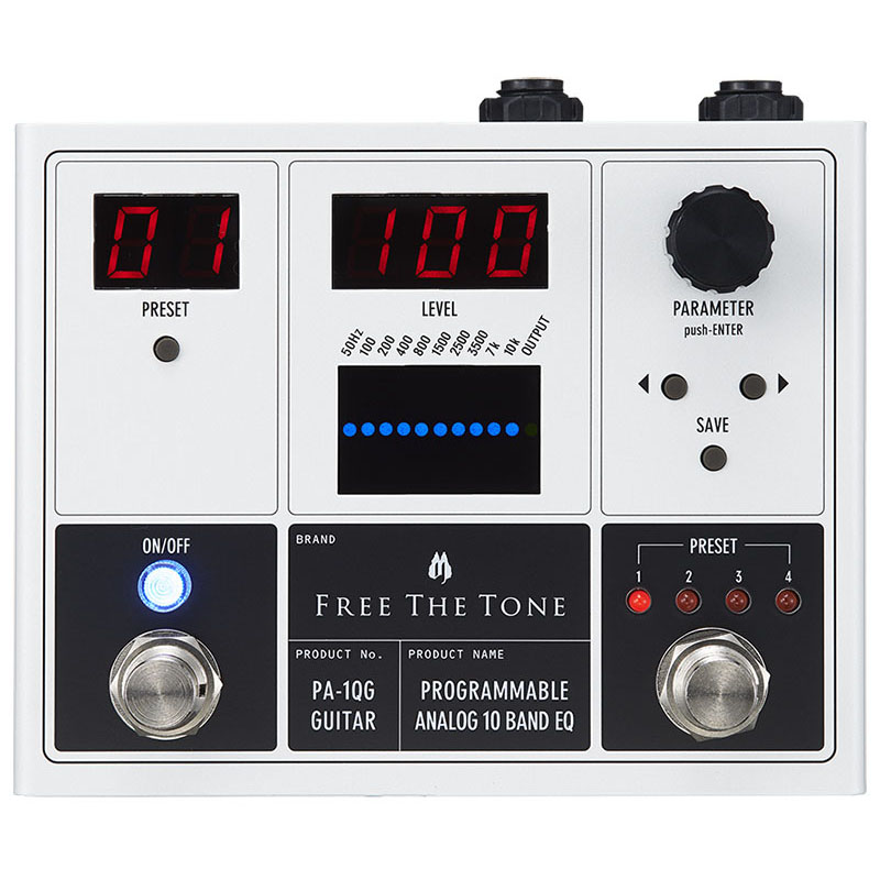 Free The Tone PA-1QG [PROGRAMMABLE ANALOG 10 BAND EQ]