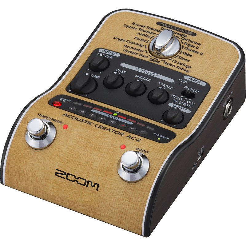 ZOOM AC-2 [Pre-Amp & Effects for Acoustic Guitar] 【送料無料】, Schott:1ca604c0 --- supergift.jp