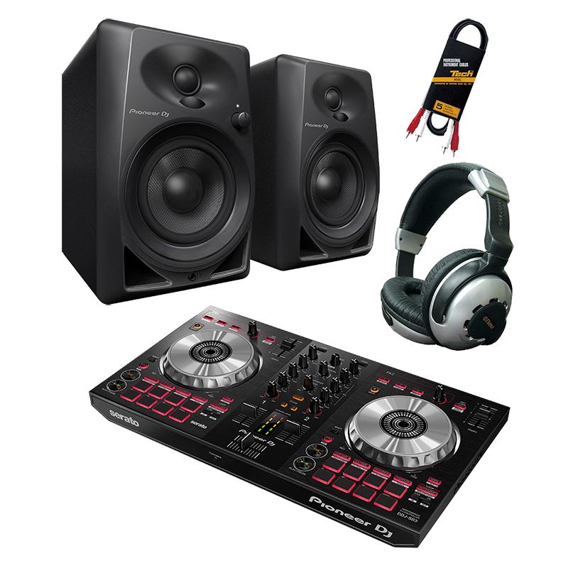 ●Pioneer DJ DDJ-SB3 + DM-40 デジタルDJ初心者セット 【数量限定serato DJパーフェクト・ガイドプレゼント!】