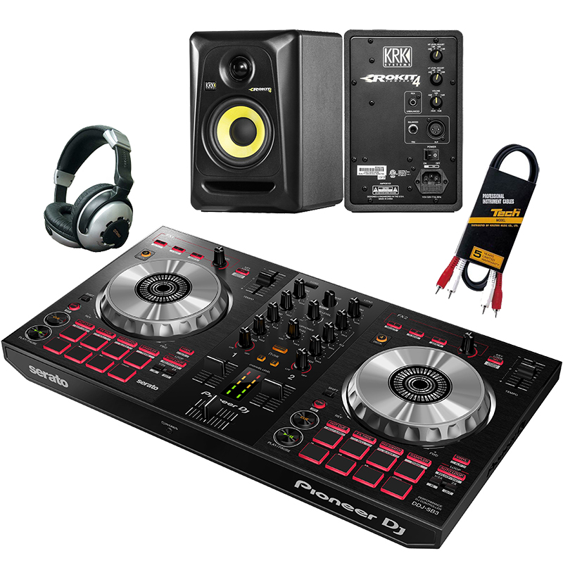 ●Pioneer DJ DDJ-SB3 + KRK RP-4G3 [Pair] デジタルDJ初心者セット 【数量限定serato DJパーフェクト・ガイドプレゼント!】