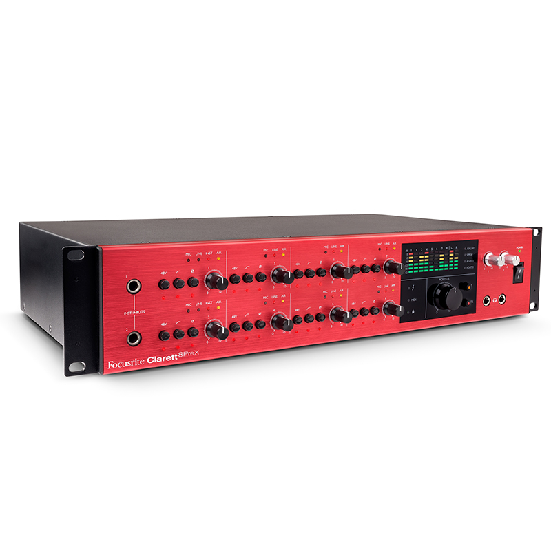 ●Focusrite Clarett 8Pre X 【Softube Time and Tone Bundle無償ダウンロード可能】