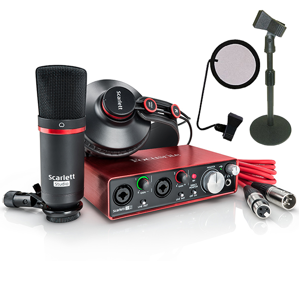 ●Focusrite Scarlett Studio G2 DeskTop Recording Set 【G2生産完了につき大幅値下げ!】