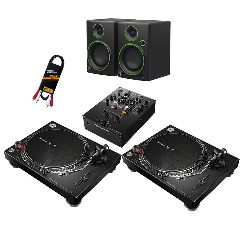 ●Pioneer DJ PLX-500-K 2台 + DJM-250MK2 + Mackie CR3セット