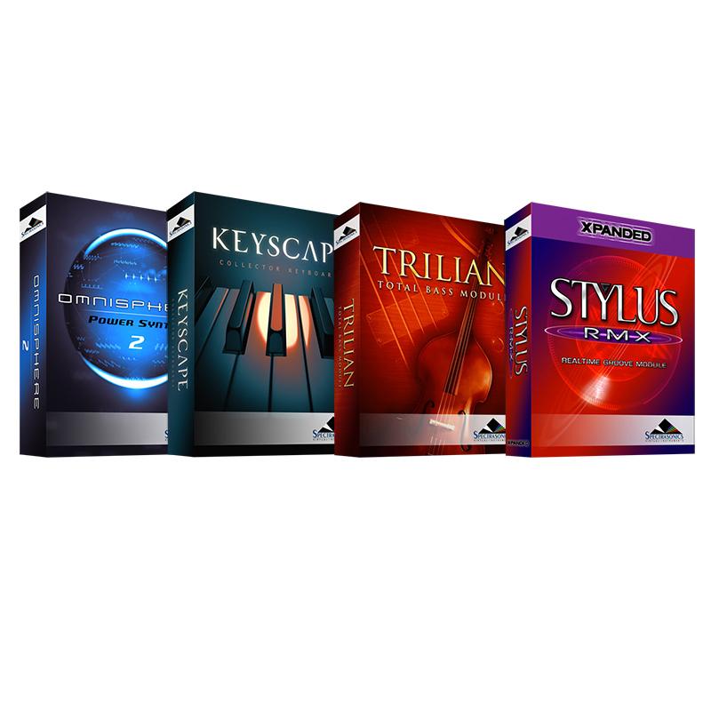 ●SPECTRASONICS 4 Software set [Omnisphere 2 + KEYSCAPE + Trilian + Stylus RMX Xpanded] [USB Drive版]