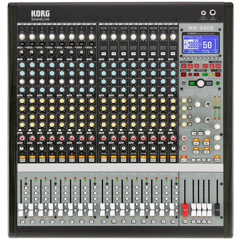 KORG MW-2408 BK [HYBRID ANALOG/DIGITAL MIXER] 【お取り寄せ商品】