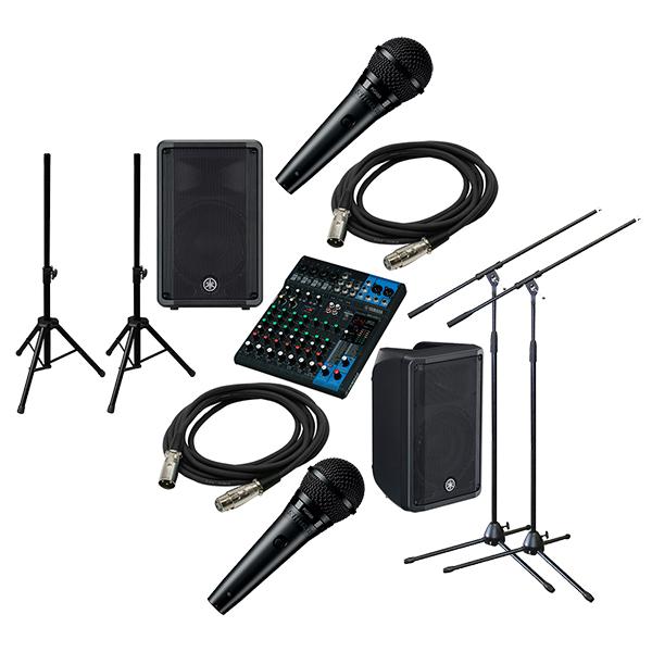 ●YAMAHA PA Sound System MG10XU + DBR10 [STAGE SET]