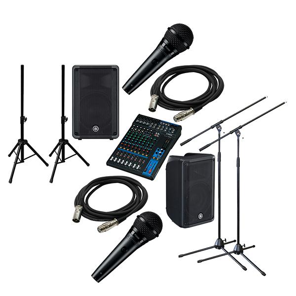 ●YAMAHA PA Sound System MG12 + DBR10 [STAGE SET]
