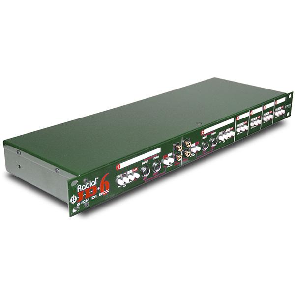 Radial JD6 [6ch Rack mount DI box]