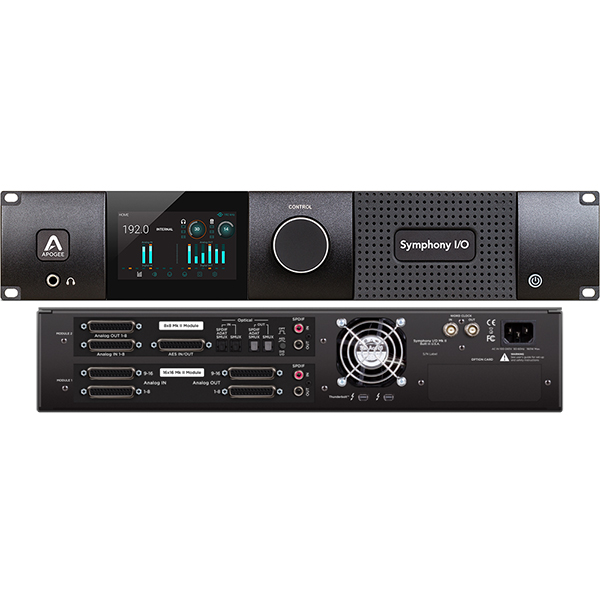 ●Apogee Symphony I/O MKII Thunderbolt Chassis with 16 Analog In + 16 Analog Out + 8 Analog In + 8 Analog Out + 8×8 AES/Optical I/O