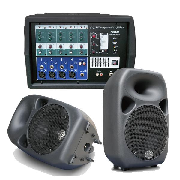 ●Wharfedale Pro PMX500 w/Titan 8 Passive [パワードミキサー&パッシブスピーカー2本&5m スピコンケーブル2本セット] 【限定タイムセール】