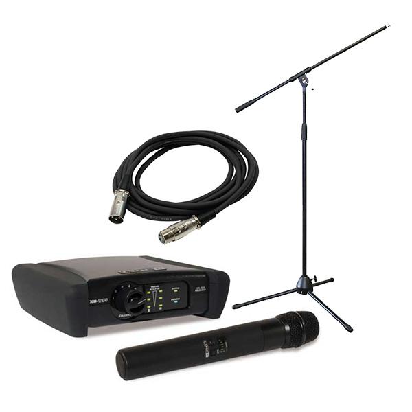 ●PA System ワイヤレスマイク&マイクスタンド追加セット [XD-V35 + MS-170B]