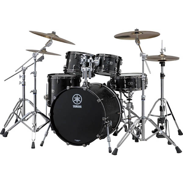 YAMAHA LIVE CUSTOM 4pc Drum Set (BKW) [LNP6F3BKW&LNB2216BKW]