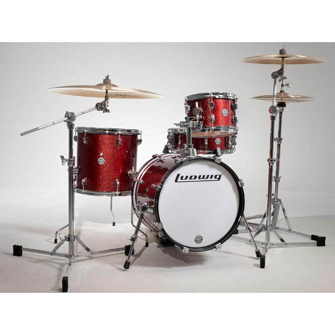 "Ludwig LC179X025 [BREAKBEATS OUT FIT / AHIMIR ""?UESTLOVE"" THOMPSON Collaboration] (Wine Red Sparkle)"