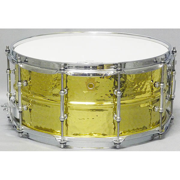 "Ludwig LB422BKT [Hammered Brass Shell 14""×6.5"" Tube Lugs]"