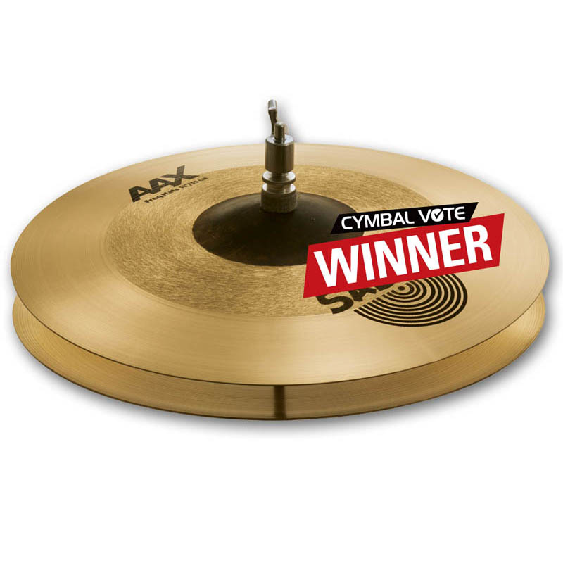 "SABIAN AAX CYMBAL VOTE ""PLAYERS' CHOICE"" 2014 THE WINNERS Freq Hat 14"" pr AAX-14FRTH/FRBH"