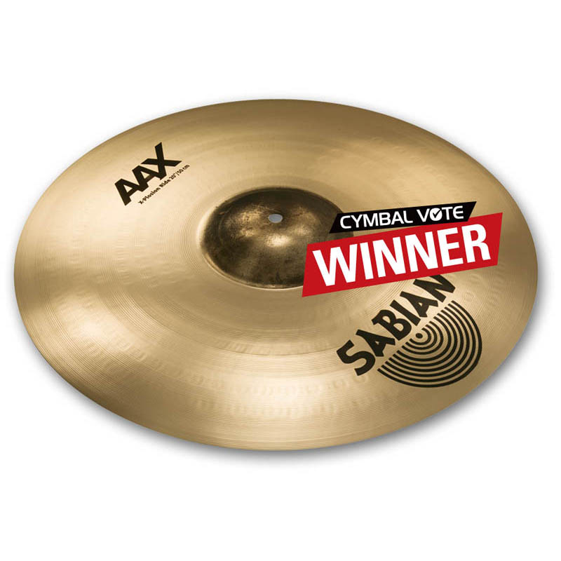 "SABIAN AAX CYMBAL VOTE ""PLAYERS' CHOICE"" 2014 THE WINNERS X-Plosion Ride 20"" AAX-20XPR-B"
