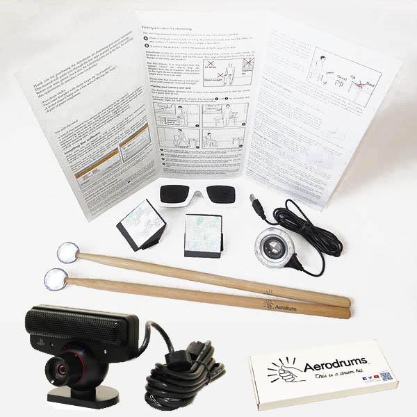 エアドラムで音が鳴る!Aerodrums(エアロドラム) [日本語版] + Sony PlayStationEye CEJH-15007(カメラ) SET 【新製品その他】