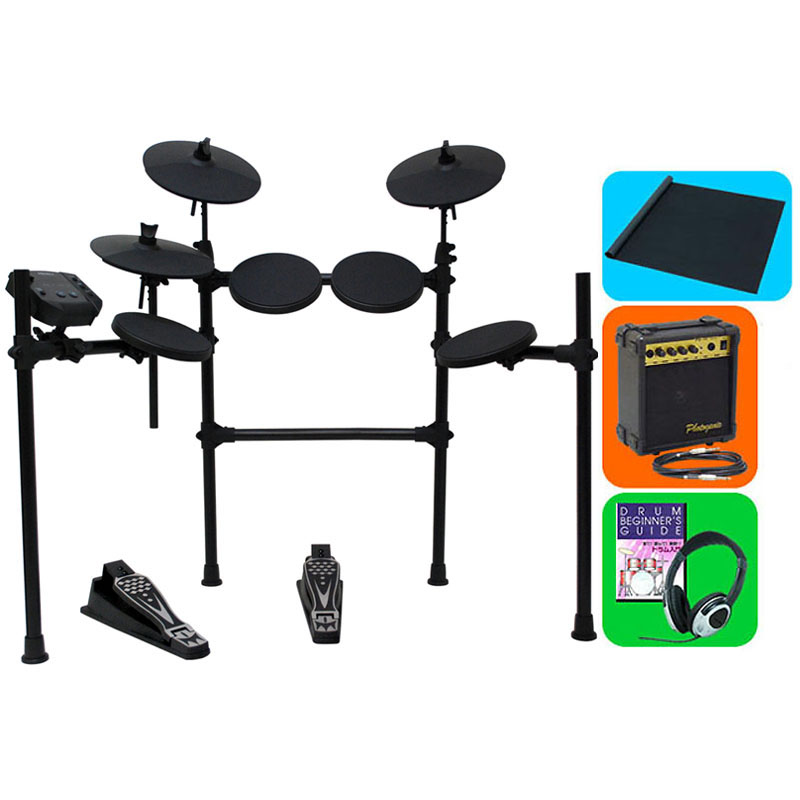 MEDELI Digital Drum Set DD401J-DIY KIT [イス&アンプ&ドラムマット&教則DVD付きオリジナル・フルセット] 【ヘッドフォン・プレゼント!】