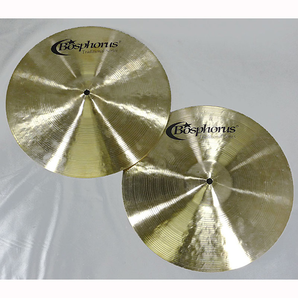 "Bosphorus Traditional Series Hihat Bright 14"" Pr"