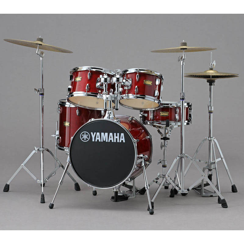 YAMAHA Manu Katche Signature Junior kit Hardware Set [JK6F5CR/クランベリー・レッド] 【BD16・FT13・TT12 & 10・SD12・ダブルタムホルダー & ハードウェア】 【ドラムスローン (DT-200) & スティック・プレゼント!】