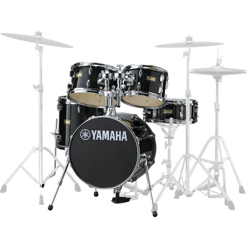 YAMAHA Manu Katche Signature Junior kit [JK6F5RB/レーベン・ブラック] 【BD16・FT13・TT12 & 10・SD12・ダブルタムホルダー】