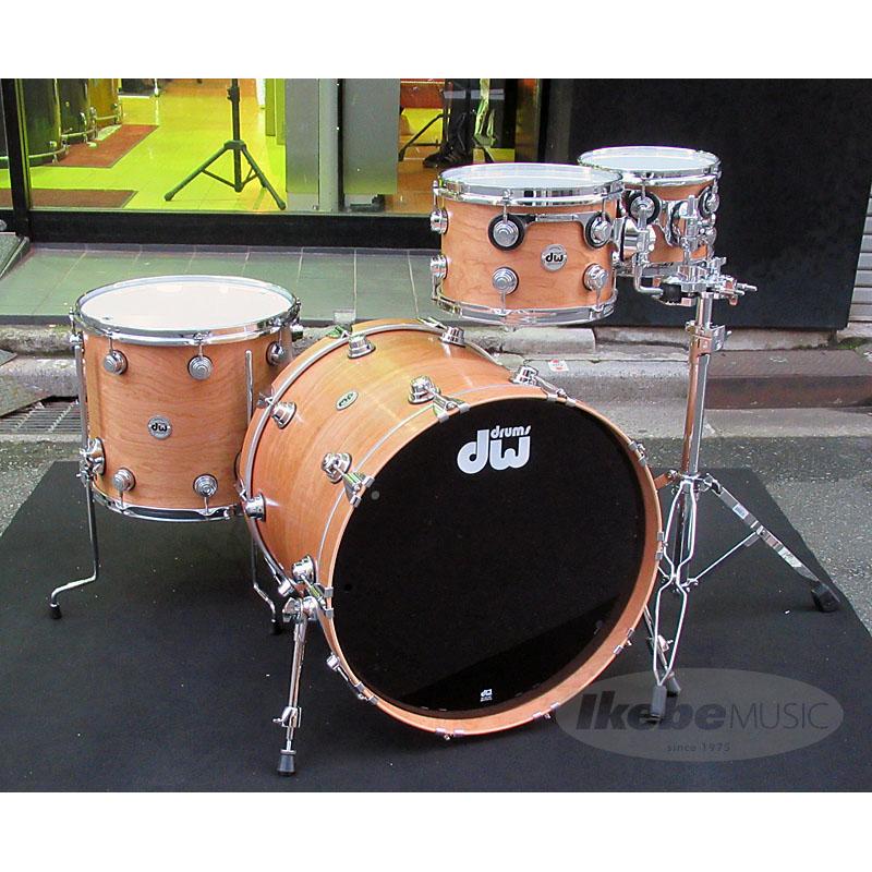 dw Collector's Chrome Series Cherry Drum Spruce Hybrid Series Shell 4pc Drum Set [Satin Oil Finish/ Chrome Hardware] ※ダブルタムスタンド別売り, 本格派大人のB系XL&ダンス衣装店:da6d7a24 --- ww.thecollagist.com
