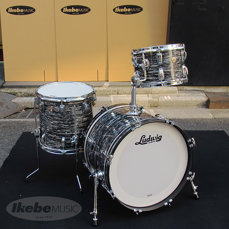 Ludwig Classic Maple / Downbeat 20 / 3pc Drum Set - Vintage Black Oyster 【BD20/FT14/TT12】【シングルタムホルダー付属】【店頭展示チョイキズ特価品】