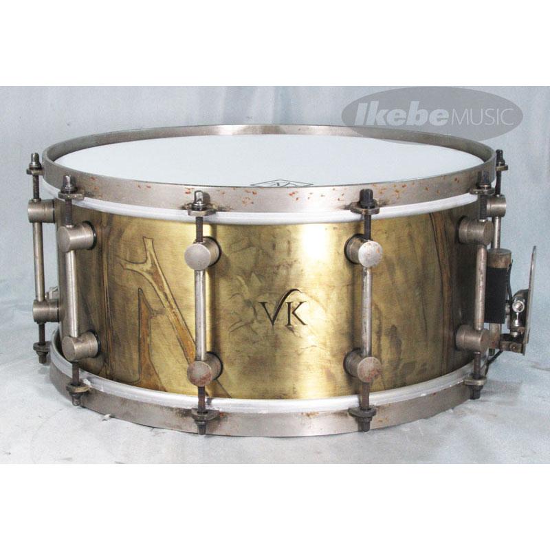 VK DRUMS Aged VK Finish Brass 2mm Brass England] 14
