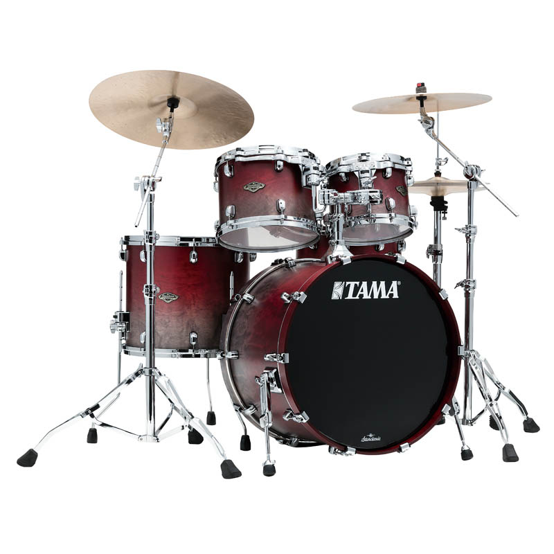 TAMA WBS42S-SGF Fade] [Starclassic Walnut/Birch 4pc Set Satin Burgundy (22