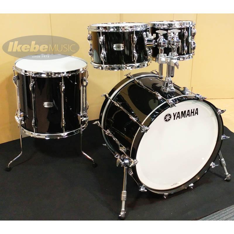 YAMAHA Recording Custom 4pc Drum Set [RBB2216SOB + RBP6F3SOB]【BD22, FT16, TT12&10 / ソリッドブラック】 【店頭展示チョイキズ特価品】