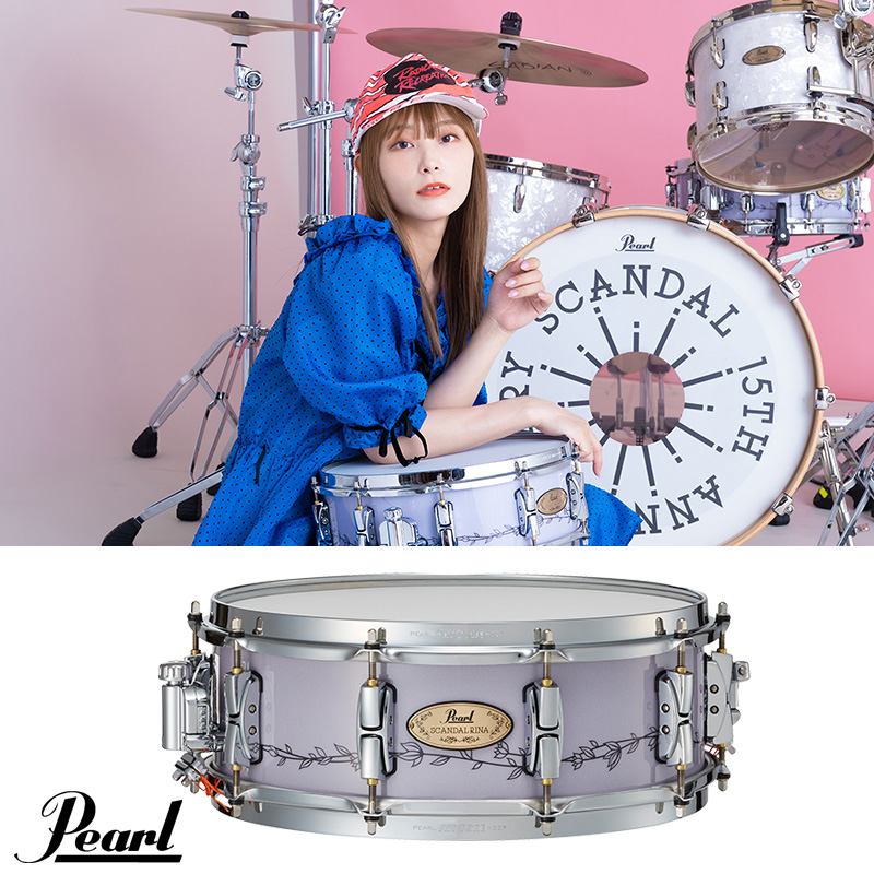 スネアドラム Pearl パール 年中無休 RN1450S C Signature Snare Drum 記念日 ~Limited 2022年3月発売予定 スキャンダル RINA Model 期間限定受注生産品 Edition~ SCANDAL