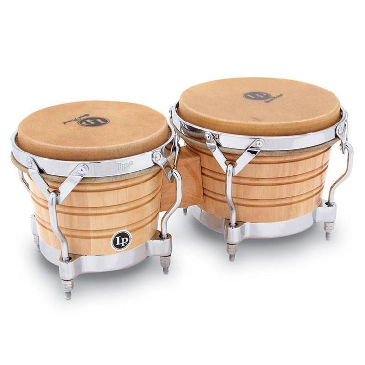 LATIN PERCUSSION LP201A-2 [Generation II Bongos With Traditional Rims, Natural/Chrome]